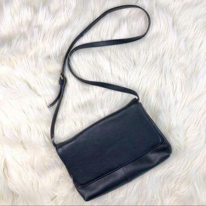 J. Crew Factory Black Leather Bag